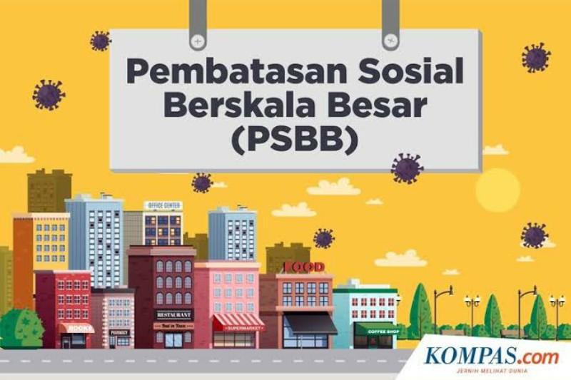 Ilustrasi PSBB di Jakarta